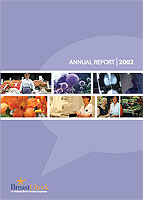Cover image of the BreastCheck Annual Report 2002