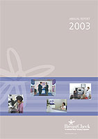 Cover image of the BreastCheck Annual Report 2003