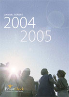 Cover image of the BreastCheck Annual Report 2004