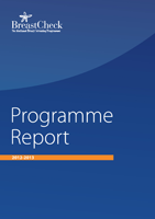 Cover image of the BreastCheck Programme Report 2012/13