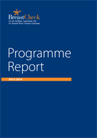 Cover image of the BreastCheck Programme Report 2013/14