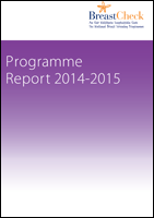 Cover image of the BreastCheck Programme Report 2014/15