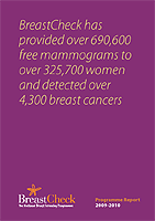 Cover image of the BreastCheck Programme Report 2009/10