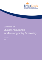 Cover image of Guidlines for Quality Assurance in Mammography